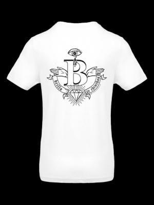 camiseta blanca simbolo brillo te chinchas