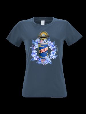 camiseta colon y ovni azul