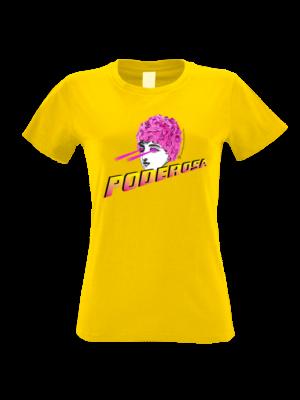 camiseta mujer poderosa amarilla
