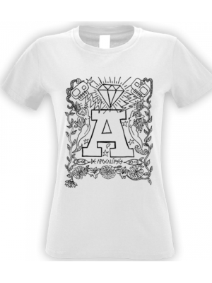 Camiseta Apocalipsis Blanca Manga Corta Mujer