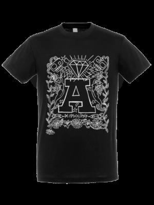 Camiseta Apocalipsis Negra Manga Corta