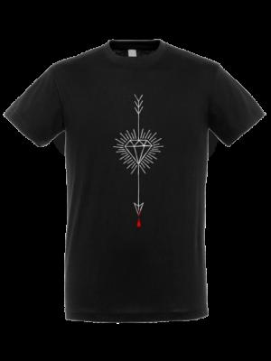 Camiseta Flecha Diamante Negra Manga Corta