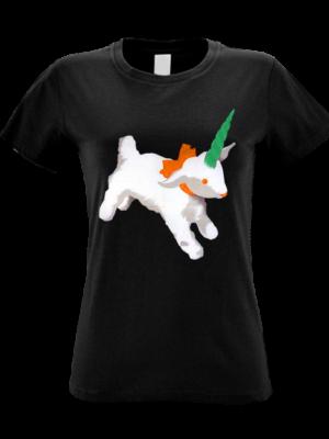 Camiseta Noritcornio Negra Manga Corta Mujer